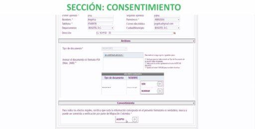 Consentimiento de la solicitud del formulario de prórroga de permanencia