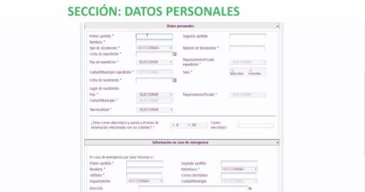 Datos personales en el formulario para prórroga de permanencia online