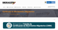 Trámite de certificación de movimientos migratorios
