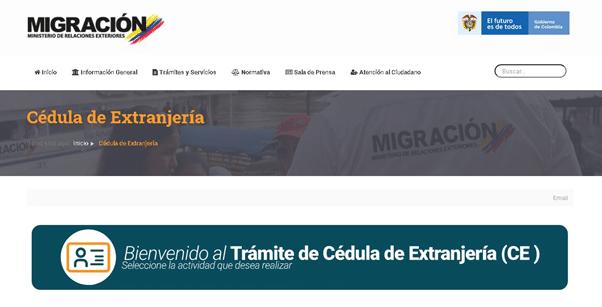 Trámite de Cédula de extranjería (CE) en Colombia