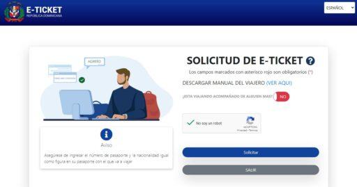llenar el ticket para republica dominicana primera parte